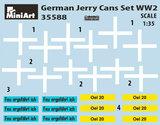 MINIART 35588 GERMAN JERRY CANS SET WW2 1/35_